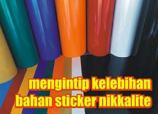bahan sticker nikkalite