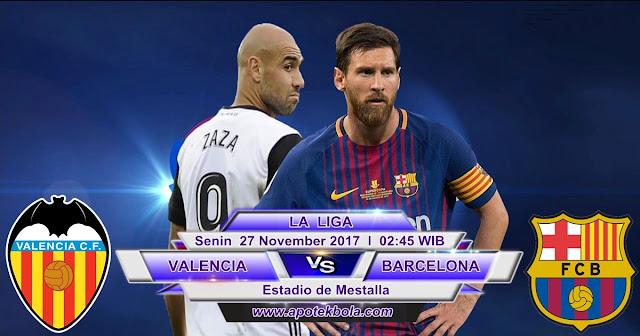 Valencia vs Barcelona 27 November 2017