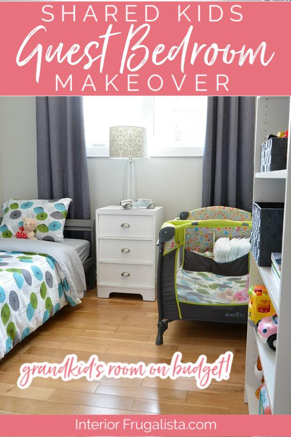 Shared Kids Guest Bedroom Makeover
