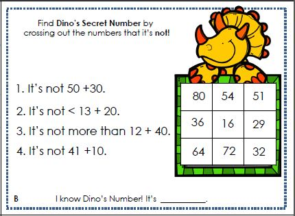 Primary Inspiration: Math Logic Puzzles     and a Freebie!