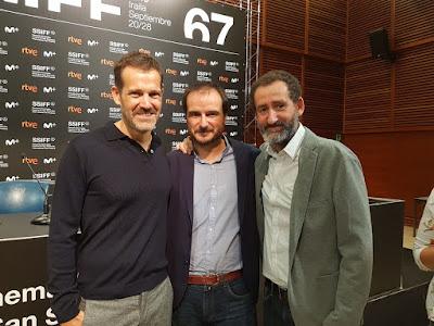 Aitor Arregi, Jon Garaño y Jose Mari Goenaga - Rueda de prensa de La trinchera infinita