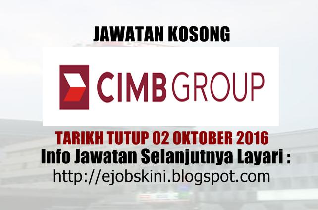 jawatan kosong cimb group oktober 2016