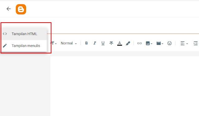 Postingan di Blogger, Cara buat kotak script