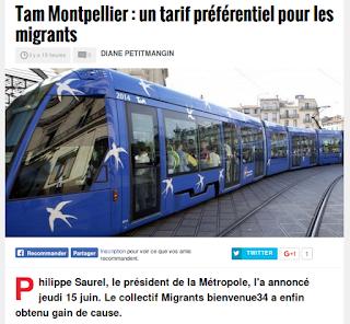 http://www.midilibre.fr/2017/06/16/tam-montpellier-un-tarif-preferentiel-pour-les-migrants,1522778.php
