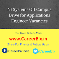 NI Systems Off Campus Drive for Applications Engineer Vacancies