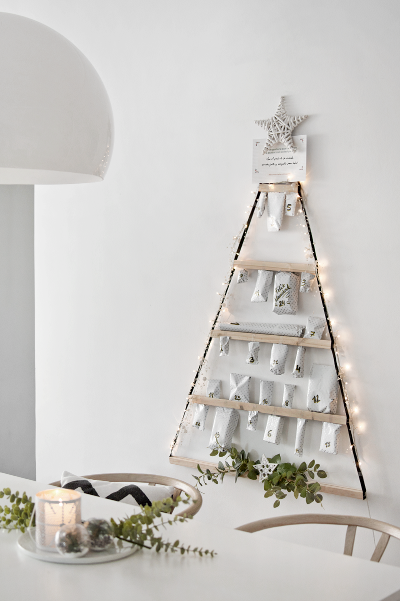 DIY: CALENDARIO DE ADVIENTO (CON ÁRBOL MINIMALISTA DE IKEA) / DIY: ADVENT CALENDAR (WITH IKEA MINIMALIST TREE)