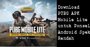 Download PUBG APK  Mobile Lite untuk Ponsel Android Spek Rendah 1