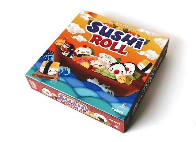 na zdjęciu pudełko gry sushi roll