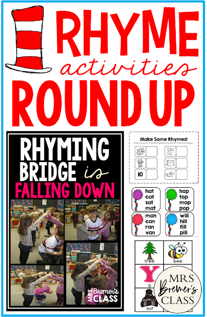 Rhyme activites to practice rhyming skills in Kindergarten and First Grade