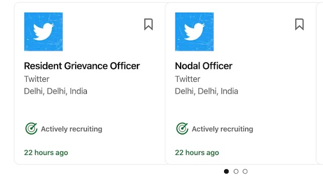 Twitter is hiring for Compliance Officer, Nodal Officer, Grievance officer in India