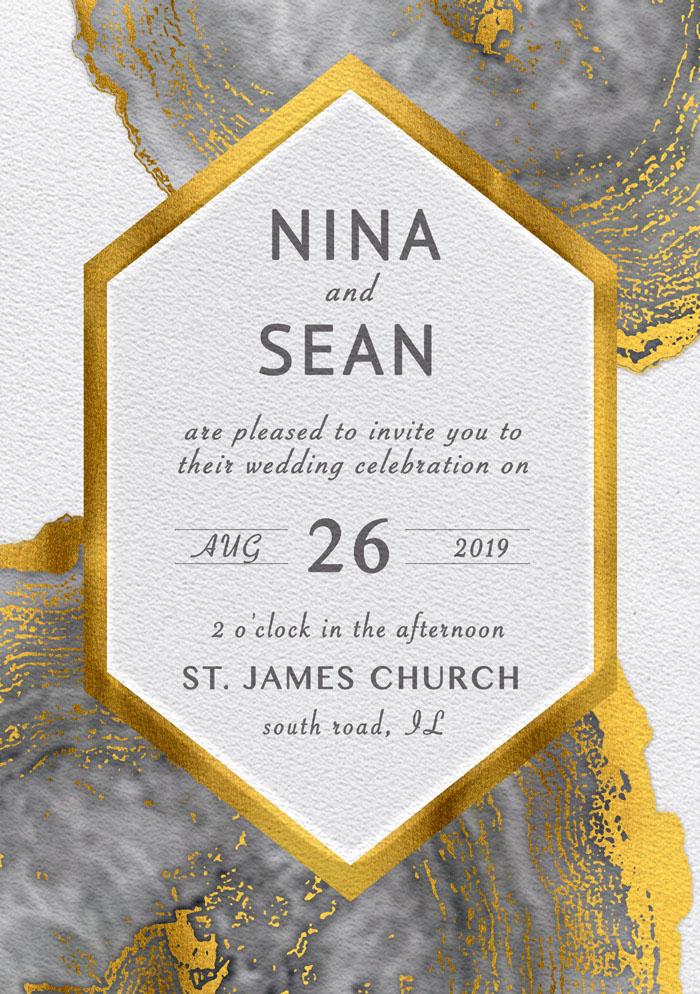 Beautiful Wedding Invitation Poster Premium Template