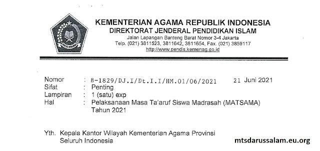 Panduan Pelaksanaan Matsama Tahun 2021