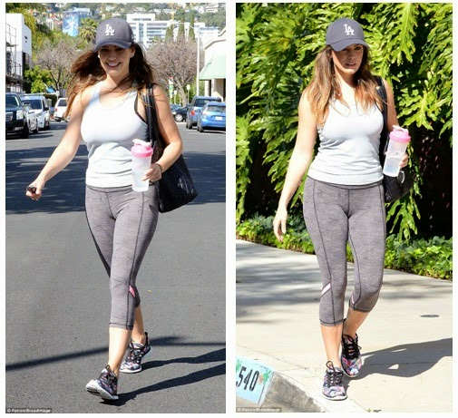 Kelly Brook in Capris and Tank Top
