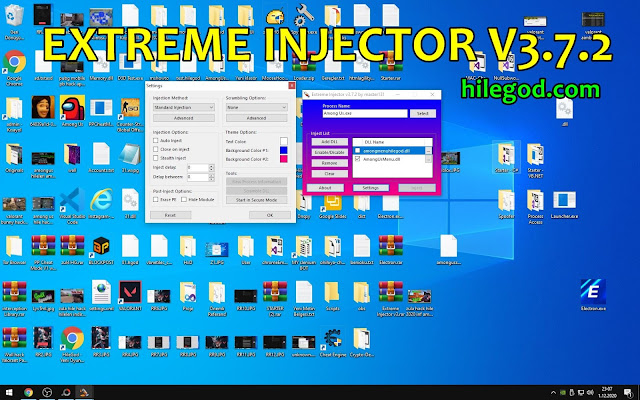 extreme injector v3.7.2 indir dll inject program