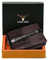 maroon style leather wallet
