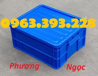 Hộp nhựa B8, thùng nhựa có nắp, thùng nhựa đặc B8, sóng nhựa bít công nghiệp