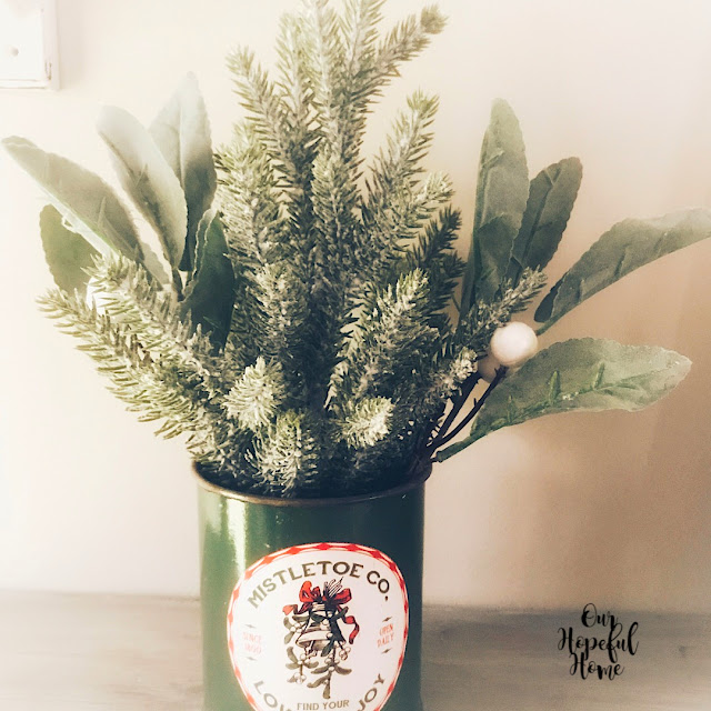 Mistletoe Co. Find Your Love and Joy vintage inspired Christmas tin