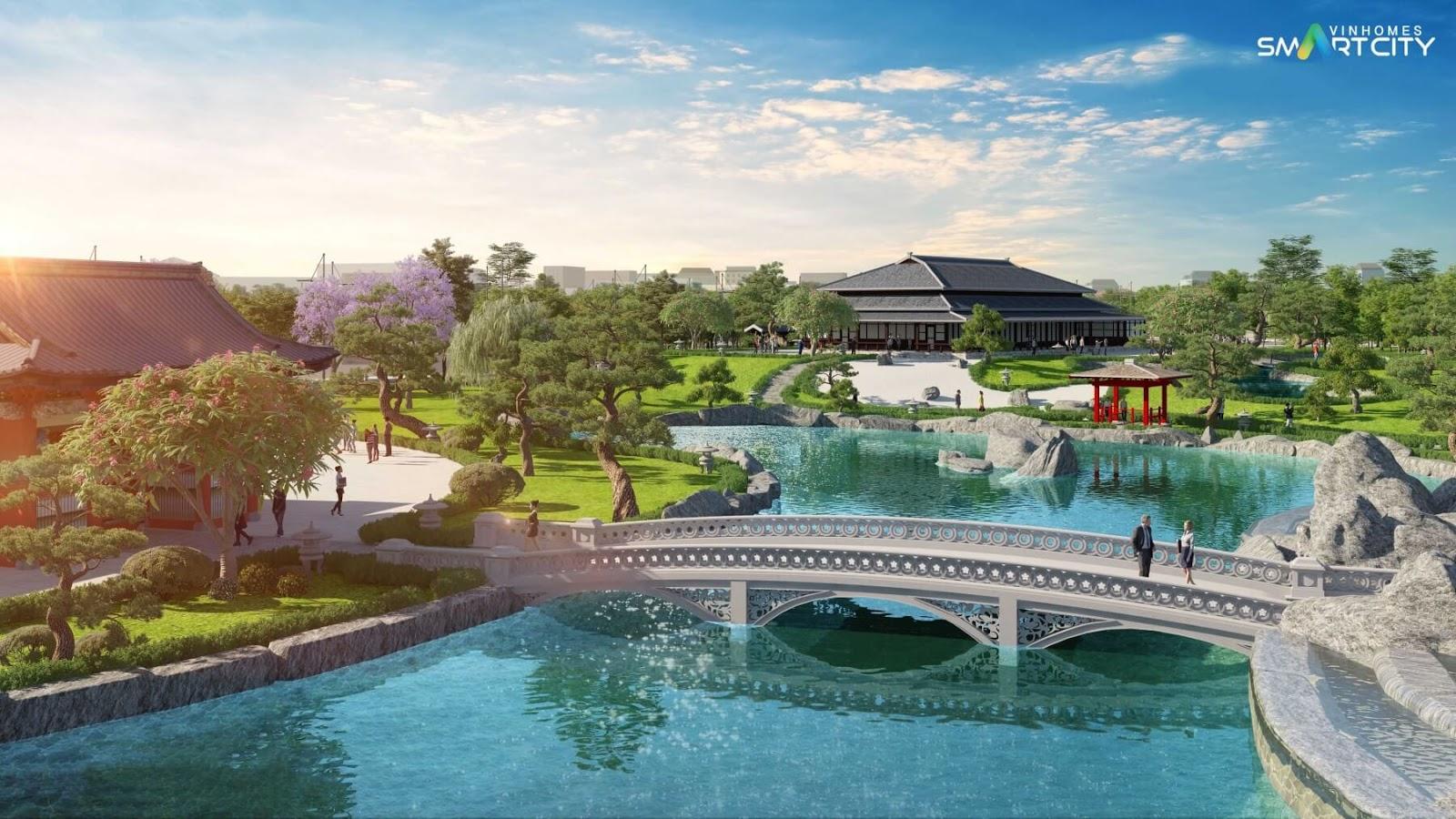 Vườn Nhật của dự án Vinhomes Tây Mỗ - Đại Mỗ