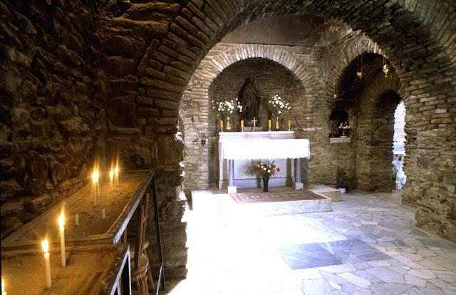 La Casa de la Virgen María en Efeso, Turquía.