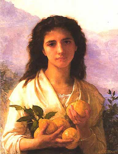 Адольф Вильям Бугро - Девушка с лимонами (1899)