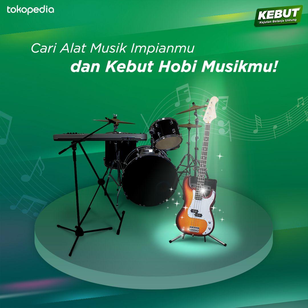 Tokopedia - Promo Hot Produk Alat Musik di Kebut Hobi Musikmu