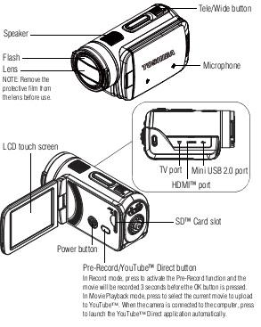 FREE PDF User Manual Download: Toshiba Camileo X100 Manual