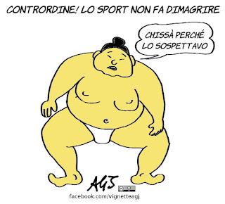sport, dieta, peso forma, podisti della domenica, umorismo, vignetta