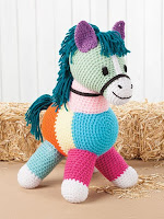 Crochet a Patchwork Horse Pattern Using Scrap Yarn