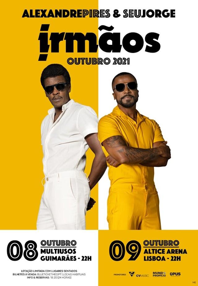 Seu Jorge e Alexandre Pires retornam a Portugal para show inédito em outubro