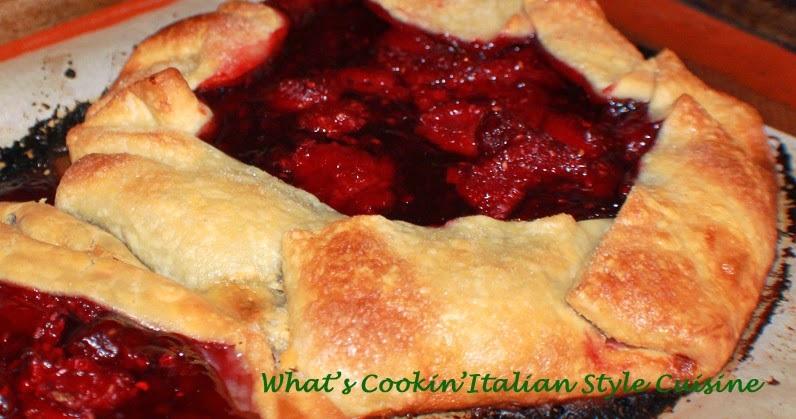 raspberry filled pie