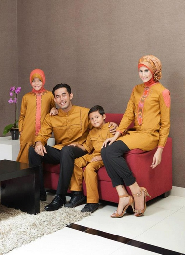 Model Baju Muslim Couple Family Terbaru