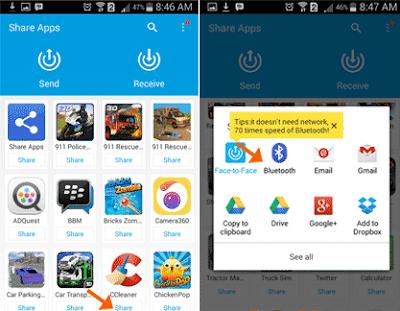 Cara Kirim Game di HP Android