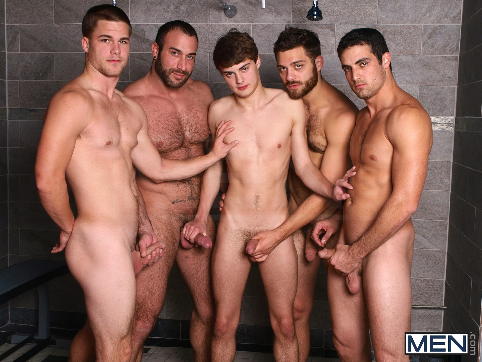 sweaty gay gangbang 1 guy