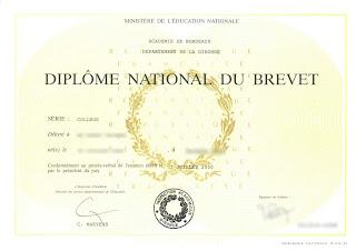 diplôme du brevet