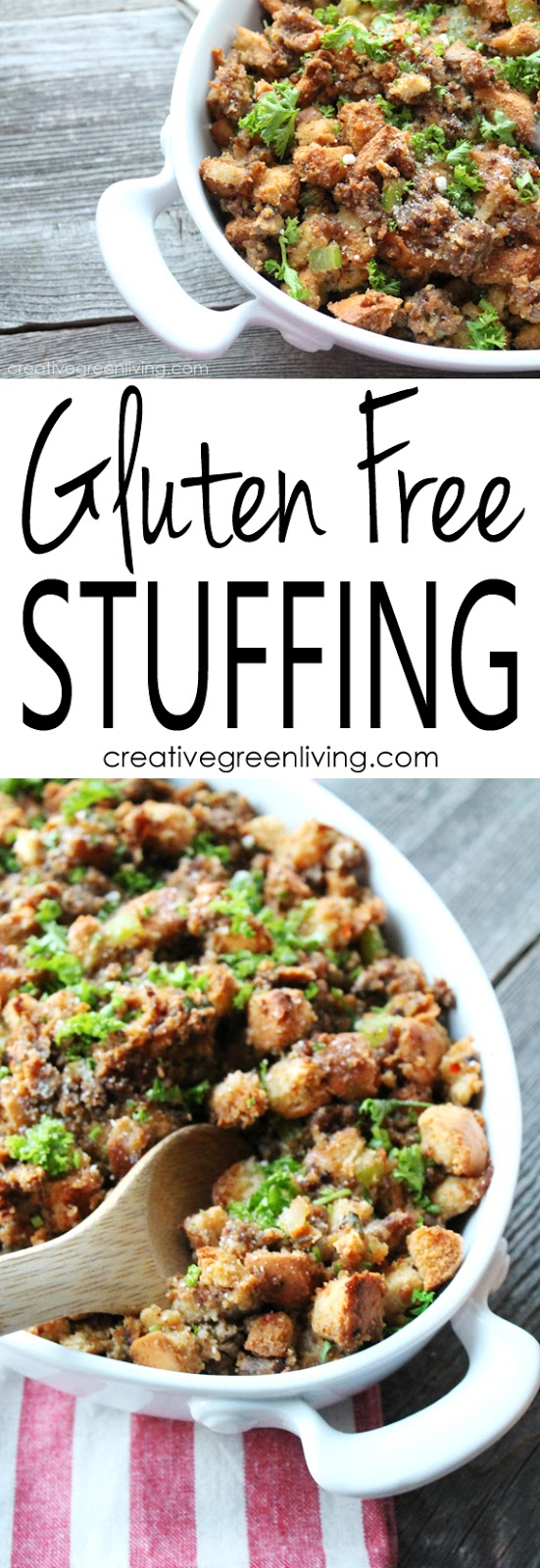 The very best gluten free stuffing recipe creative green living created using the recipes generator forumfinder Images