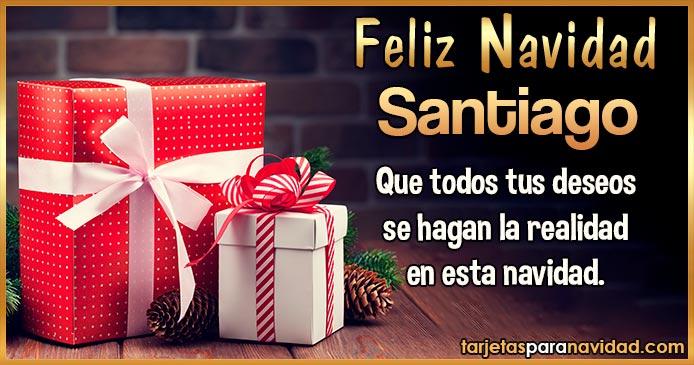 Feliz Navidad Santiago
