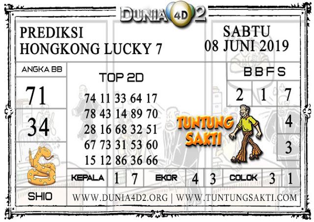 """Prediksi Togel """"HONGKONG LUCKY 7"""" DUNIA4D2 08 JUNI 2019"""