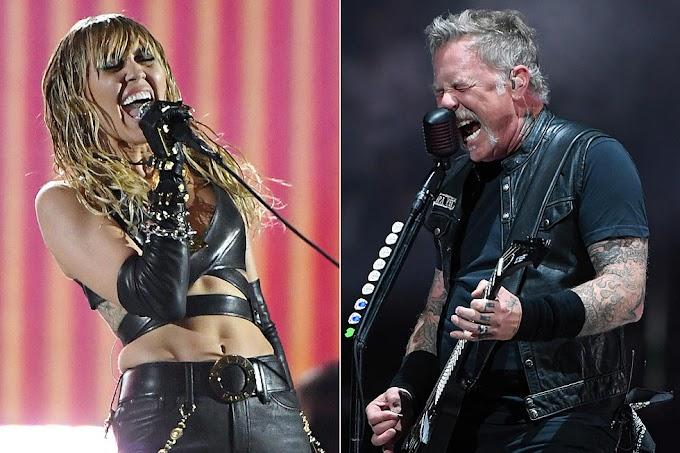 Metallica tocará con Miley Cyrus