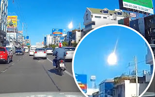 Unknown fireball fall from the sky in Bangkok