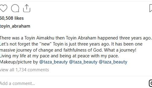 toyin%2B2 - Toyin Abraham marks three years journey of change