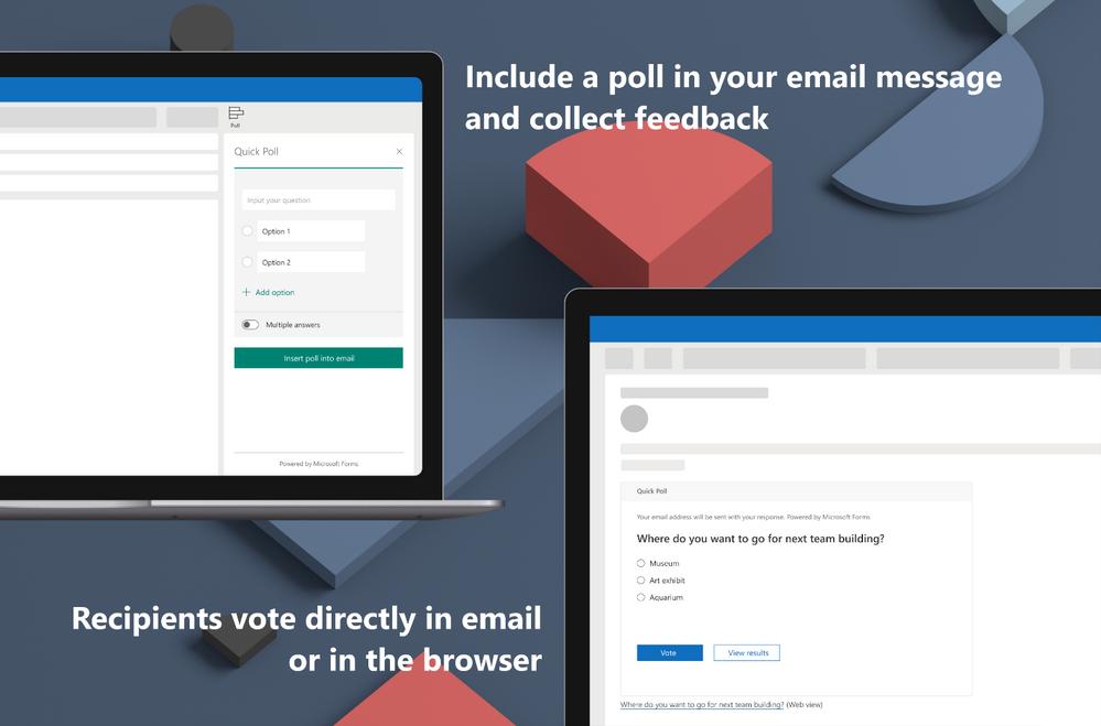 Outlook integra Microsoft Forms per creare sondaggi direttamente dalle e-mail