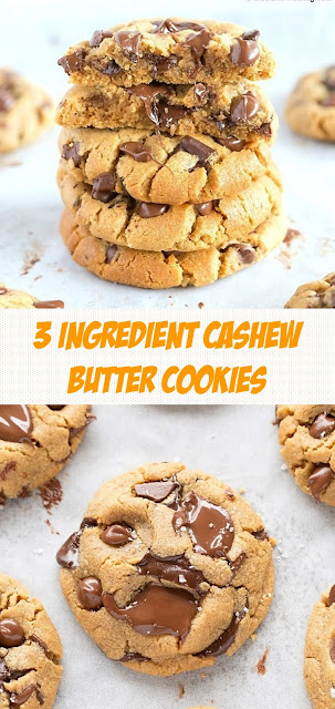 3 Ingredient Cashew Butter Cookies
