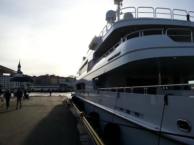 Yachts in Bergen; Superyacht Bacarella in Bergen Norway