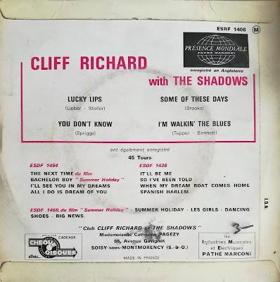 Cliff Richard (Lucky Lips) EP (FRA) 1963