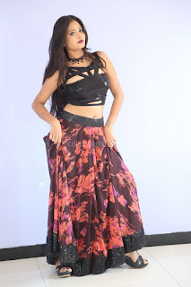 Shriya Vyas in a Tight Backless Sleeveless Crop top and Skirt 83.JPG