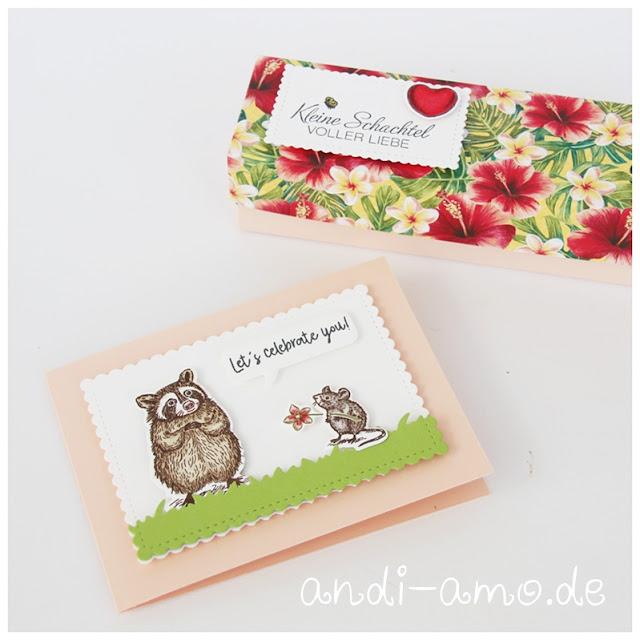 DIY Geschenkset Karte und Schachtel Stampin Up