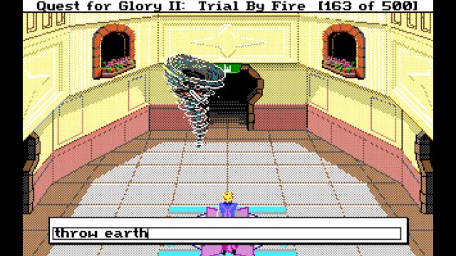 Screenshot of an air elemental in Quest for Glory II