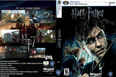 Jogo Harry Potter E As Relíquias da Morte Parte 1 PC DVD Capa
