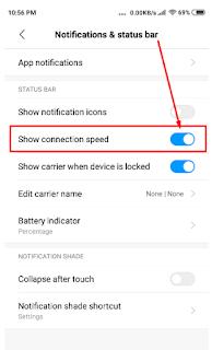 Cara Menampilkan Speed Internet Di Bagian Status bar Android Kita