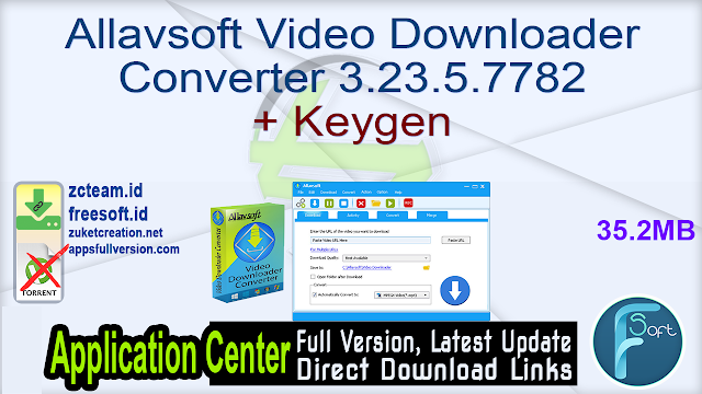 Allavsoft Video Downloader Converter 3.23.5.7782 + Keygen_ ZcTeam.id